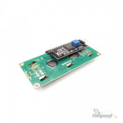 Display Lcd 16X2 1602 Backlight Azul + Modulo I2C